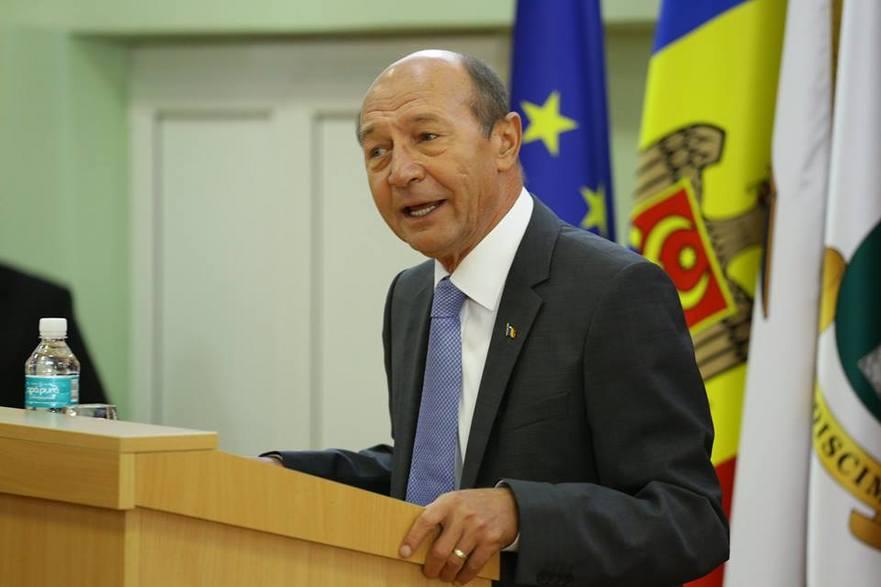 Traian Băsescu preşedintele de onoare a PUN din R. Moldova