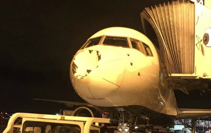 Aşa arată vârful avionului în care călătorea Oklahoma City Thunder