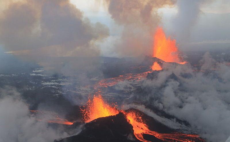 Ultima erupţie a celui mai mare vulcan din Islanda, Bardarbunga, la 4 septembrie 2014