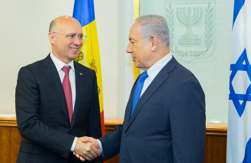 Pavel Filip şi Benjamin Netanyahu