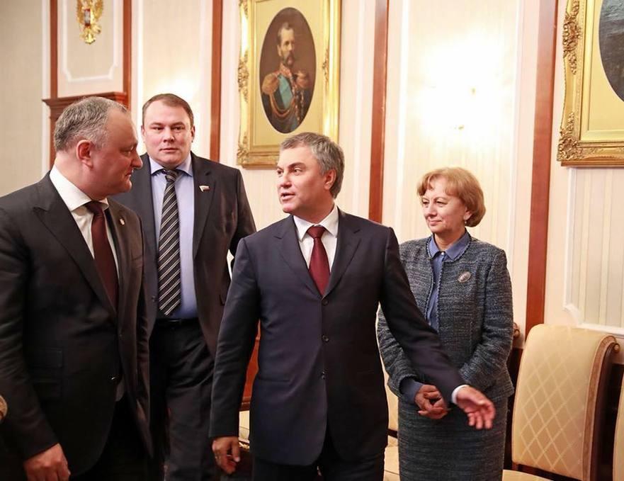 Igor Dodon din nou la Moscova