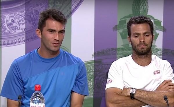 Jucătorul român de tenis Horia Tecău şi olandezul Jean-Julien Rojer.