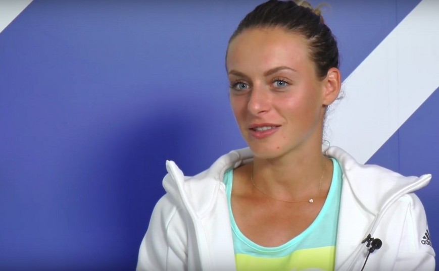 Jucătoarea română de tenis Ana Bogdan.
