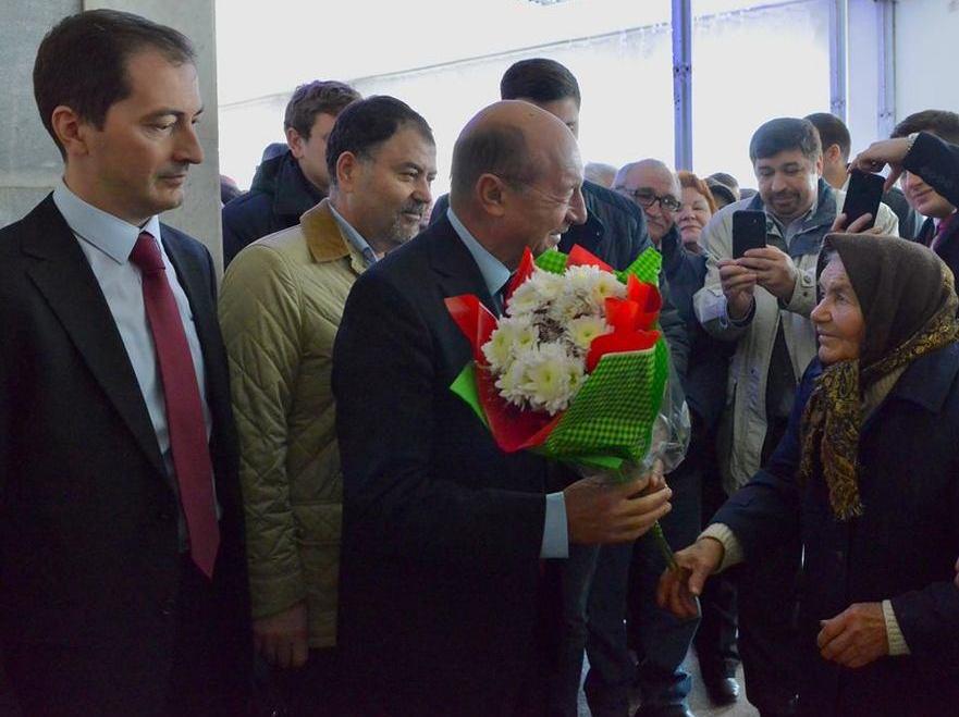 Traian Băsescu la întâlniri cu cetăţenii din R. Moldova