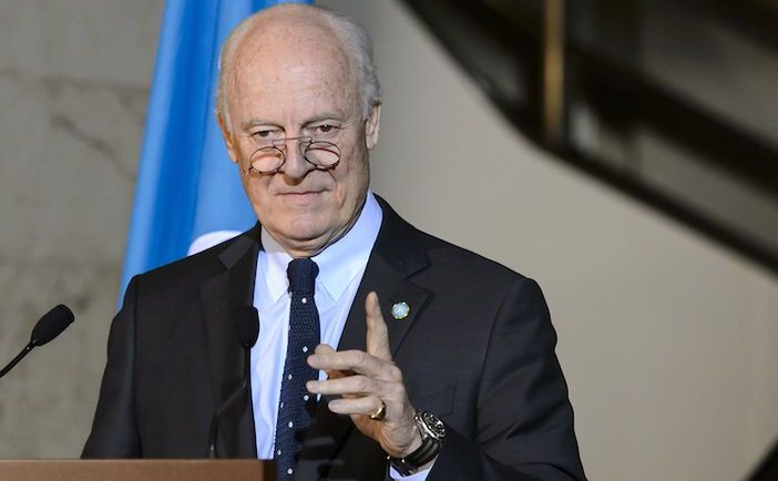 Reprezentantul special al ONU pentru Siria, Staffan de Mistura.