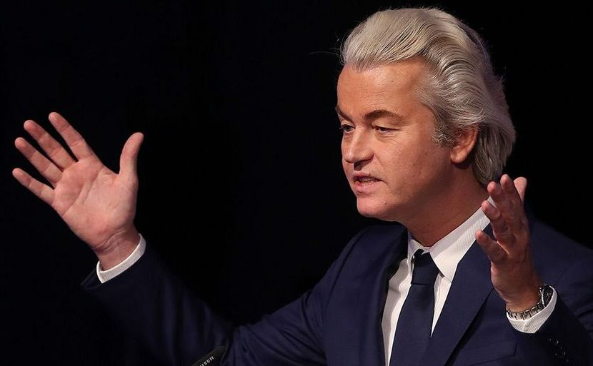 Politicianul olandez extremă dreapta Geert Wilders