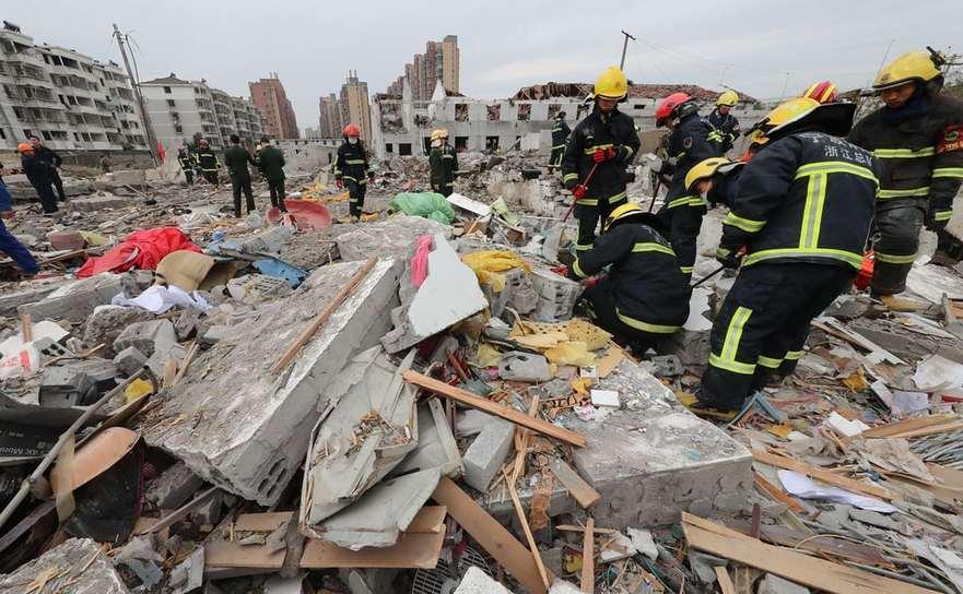 Explozie majoră loveşte oraşul estic chinez Ningbo, 26 noiembrie 2017.