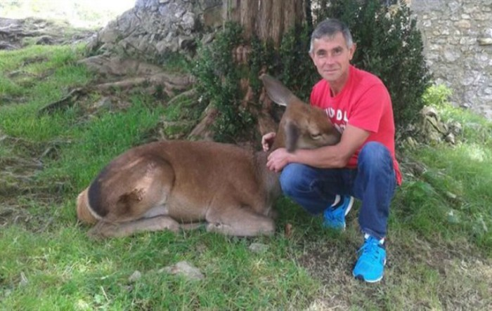 Aladino Montes împreună cu Bambi