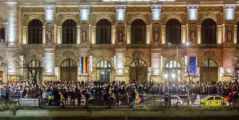 Protestul judecătorilor români în Bucureşti 18.12.2017
