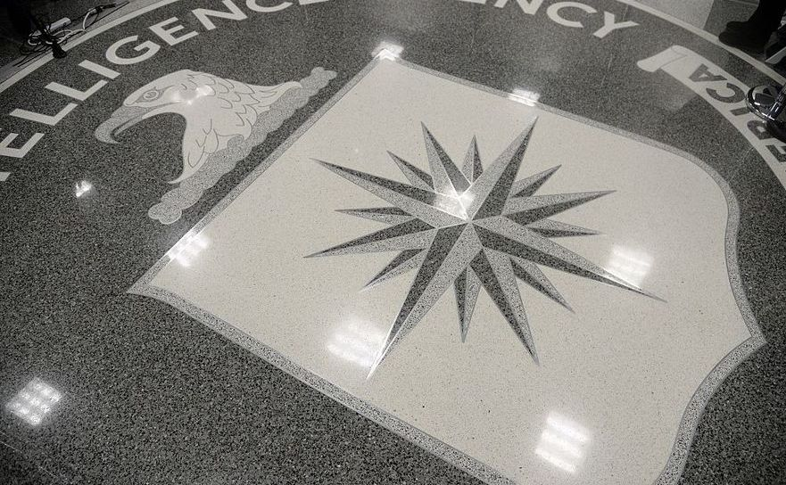 Logo-ul CIA văzut la sediul agenţiei americane în Langley,  Virginia, SUA.