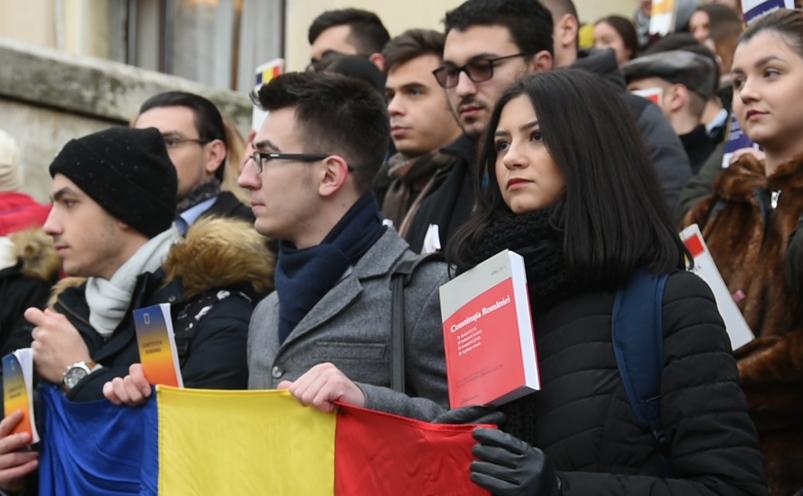 Protestul studenţilor de la drept