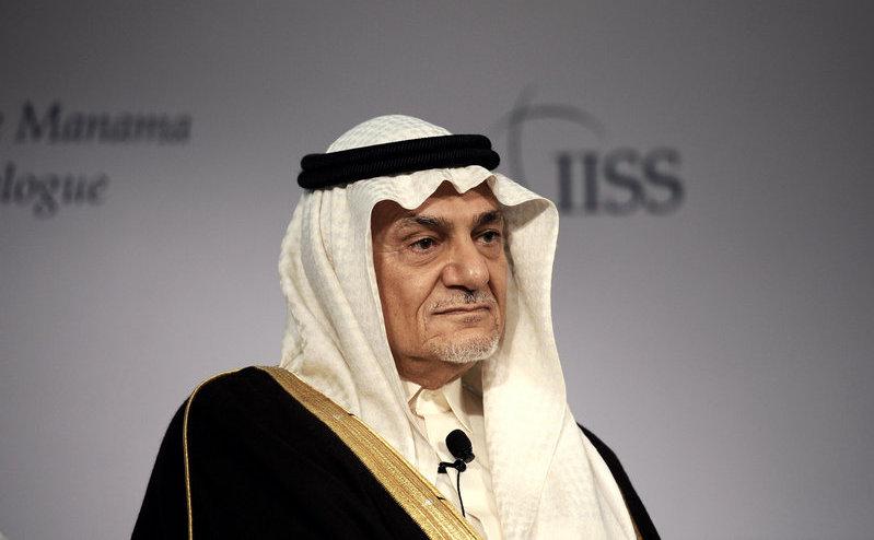 Prinţul Turki al-Faisal, fost şef al serviciilor de informaţii saudite.