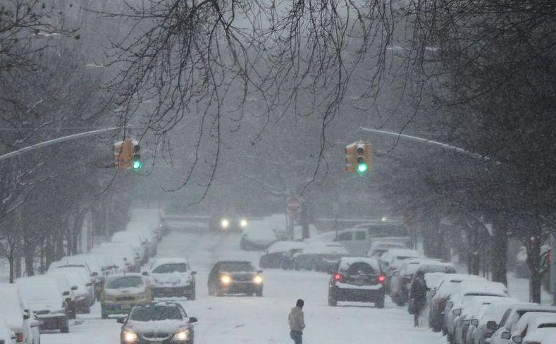 Iarna în New York City, SUA.