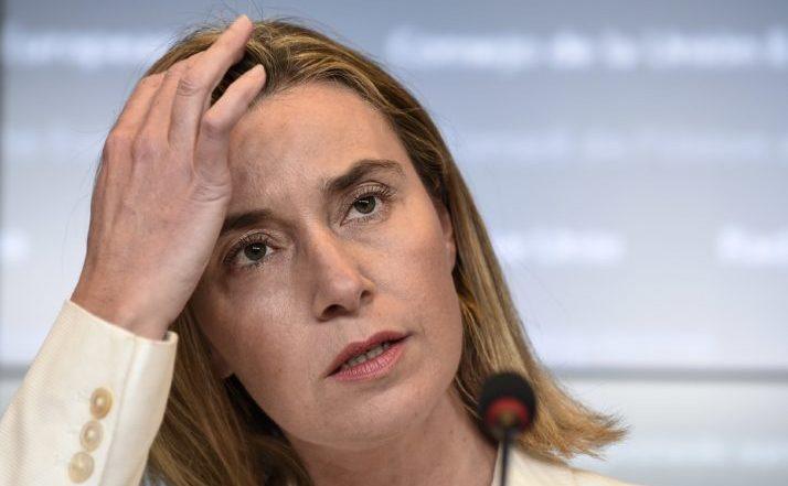 Înaltul reprezentant al Uniunii Europene pentru afaceri externe şi politică de securitate, Federica Mogherini.