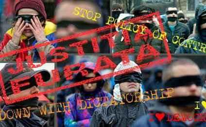 """""""Justiţia Furată"""" – Protest Internaţional in patru tari"""