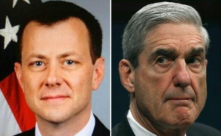 Agentul special FBI Peter Strzok (st) şi consilierul special Robert Mueller.