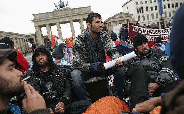 Refugiaţi în Berlin, Germania.