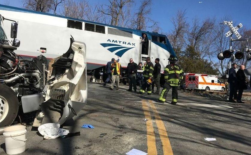 Accident feroviar în apropiere de Greenbrier, în Virginia de Vest, SUA, 31 ianuarie 2018.