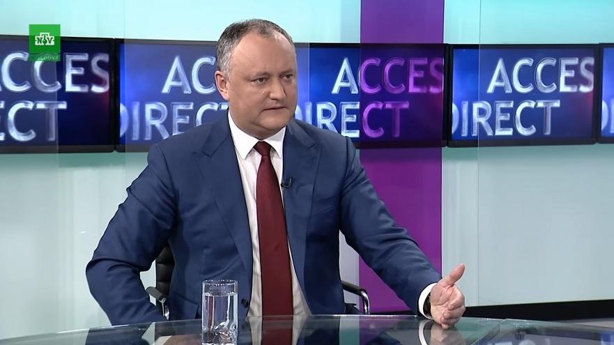 Igor Dodon, preşedintele Republicii Moldova