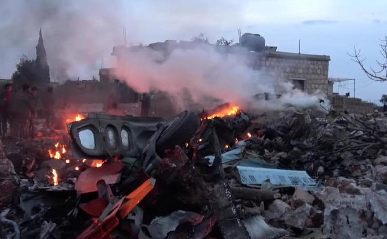 Avion de luptă rusesc doborât de rebelii sirieni