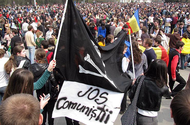 Protestul anticomunist al tinerilor de la Chişinău (7 aprilie 2009)
