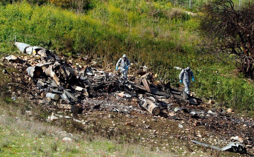 Avion F-16 boborât în spaţiul aerian sirian
