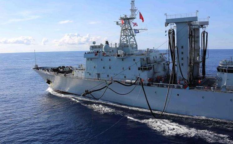 O navă de luptă chineză în vestul Oceanului Indian
