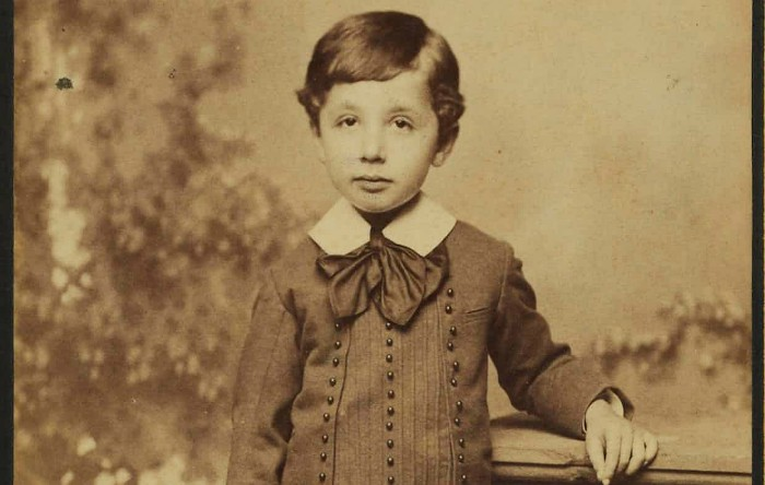Albert Einstein la vârsta de 5 ani