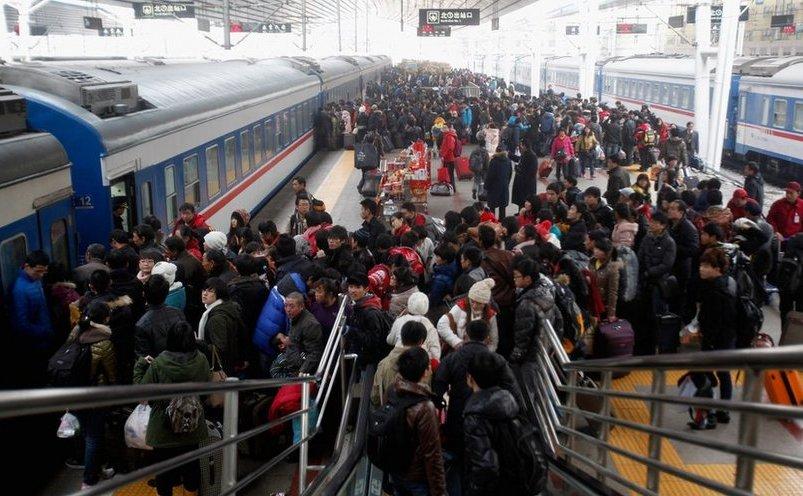 Staţie de tren în China