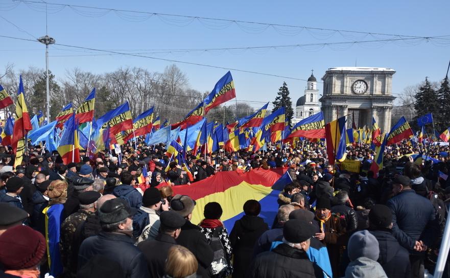 Miting unionist la Chişinău, 25 martie 2018