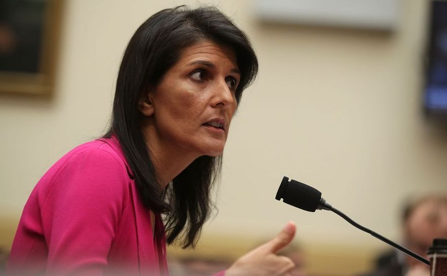 Ambasadorul SUA la ONU, Nikki Haley