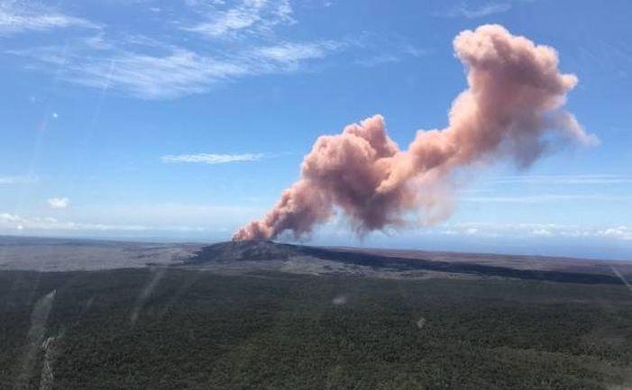 Eruptie a vulcanului Kilauea din Hawaii, 3 mai 2018.