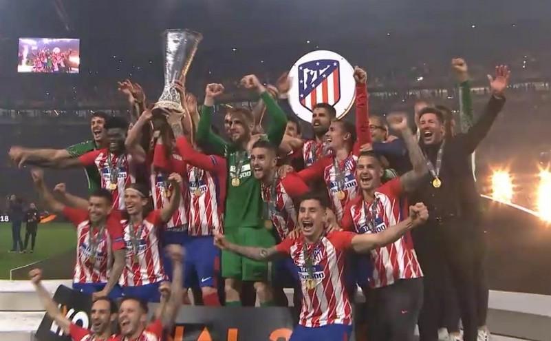 Atletico Madrid a cucerit trofeul Europa League, după 3-0 cu Olympique Marseille.