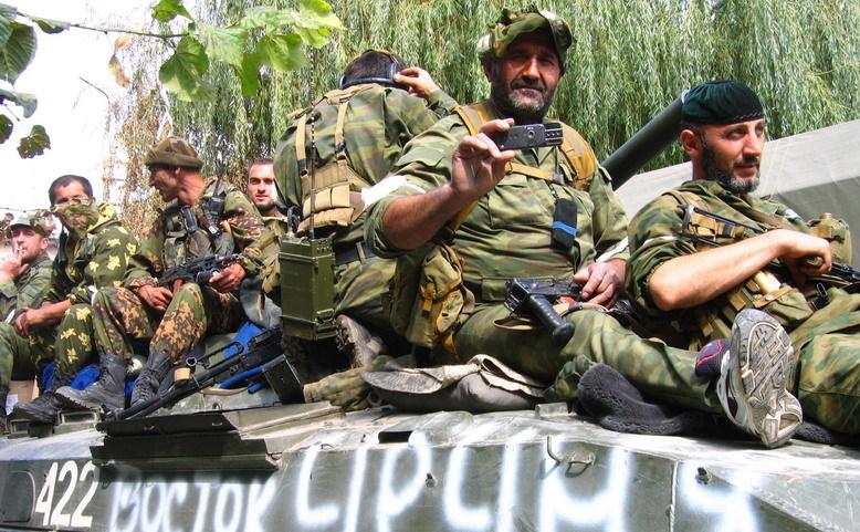 Soldaţi ruşi în Georgia în 2008