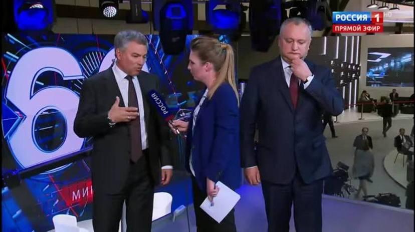 Igord Dodon, în cadrul unei emisiuni tv ruseşti