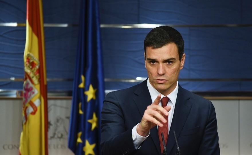 Premierul spaniol Pedro Sanchez