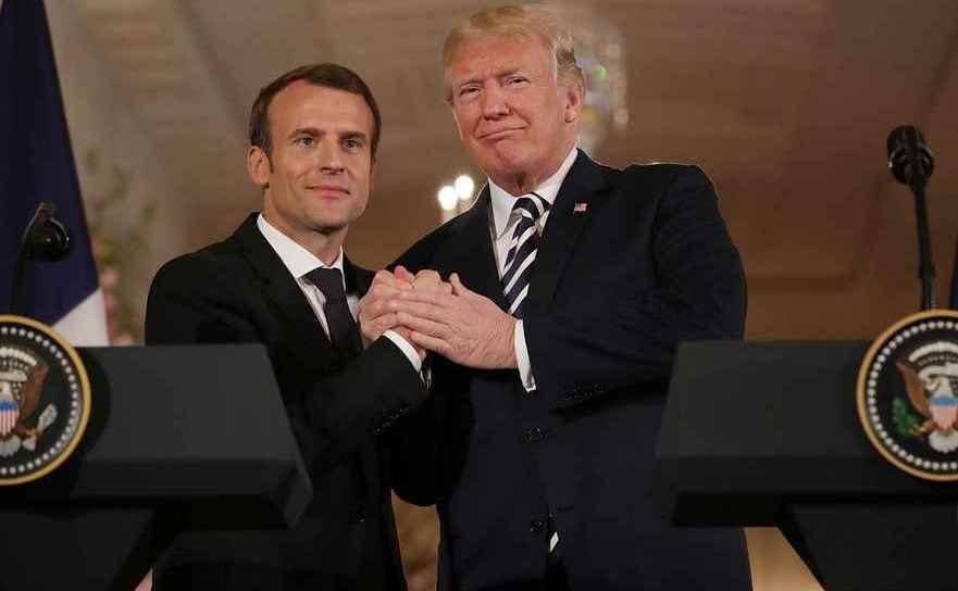 Prietenie mare între Emmanuel Macron şi Donald Trump cu prilejul vizitei liderului francez în SUA.