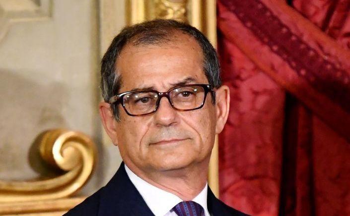 Ministrul italian de finanţe şi economie, Giovanni Tria