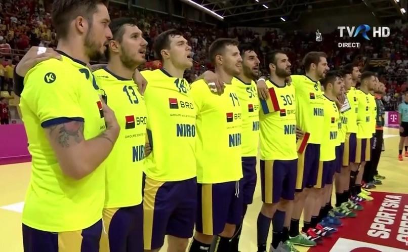 Selecţionata de handbal masculin a României.