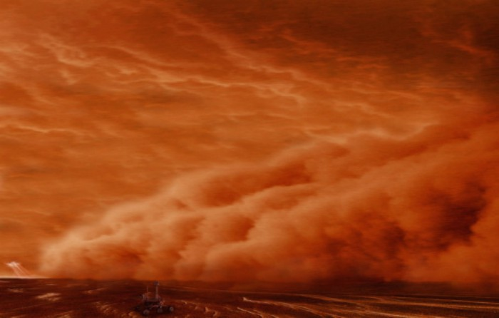 Furtună pe Marte
