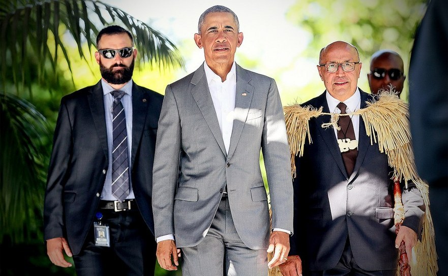 Barack Obama, împreună cu membri ai Serviuciului Secret