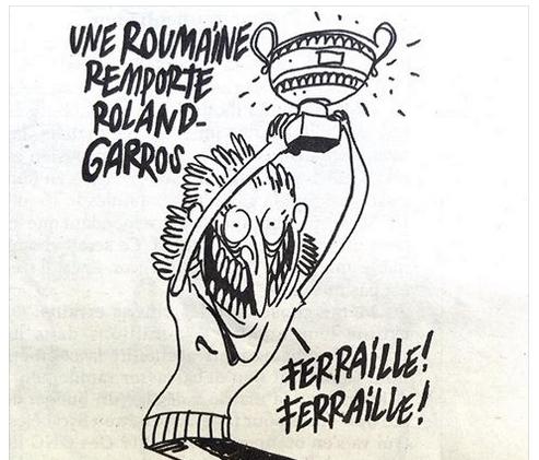 Caricatură Charlie Hebdo xenofobă la adresa românilor