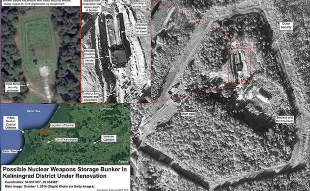 Poze din satelit ale unui buncăr despre care se crede că ar adăposti încărcăturile nucleare ale Rusiei în Kaliningrad