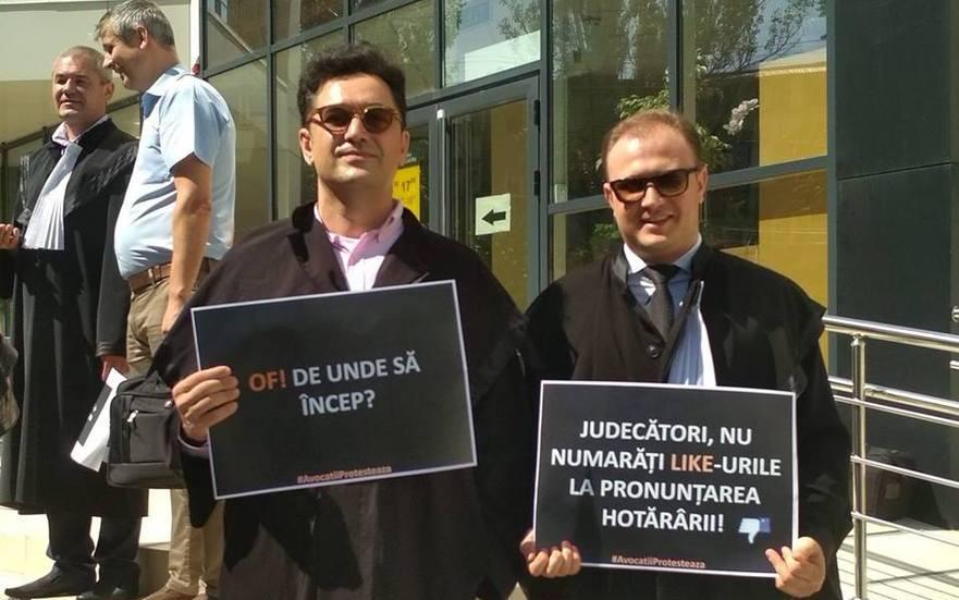 Protestul avocaţilor în faţa Curţii de Apel Chişinău, 26.06.2018