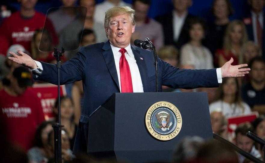 Preşedintele Donald Trump participă la un miting de campanie în West Columbia, statul american Carolina de Sud, 25 iunie 2018.