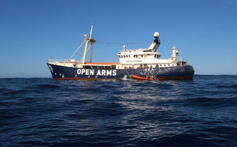 Open Arms, o ambarcaţiune operată de ONG-ul spaniol Proactiva Open Arms