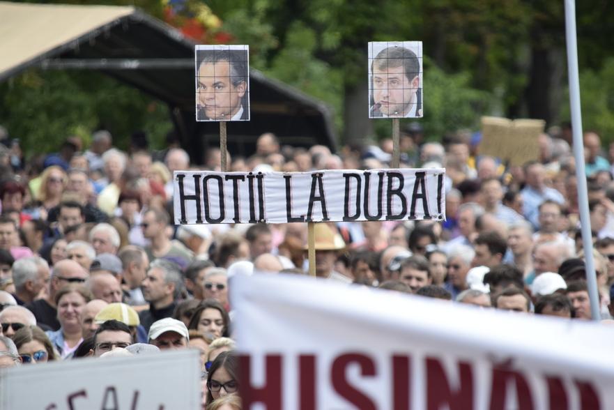 Protest la Chişinău, împotriva invalidării alegerilor locale