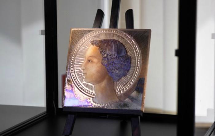 Majolică cu portretul Arhanghelului Gabriel, Leonardo da Vinci