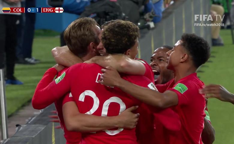 Anglia a învins formaţia Columbiei cu scorul de 4-3 la loviturile de departajare,  1-1 (0-0, 1-1),marţi, în optimile CM 2018.