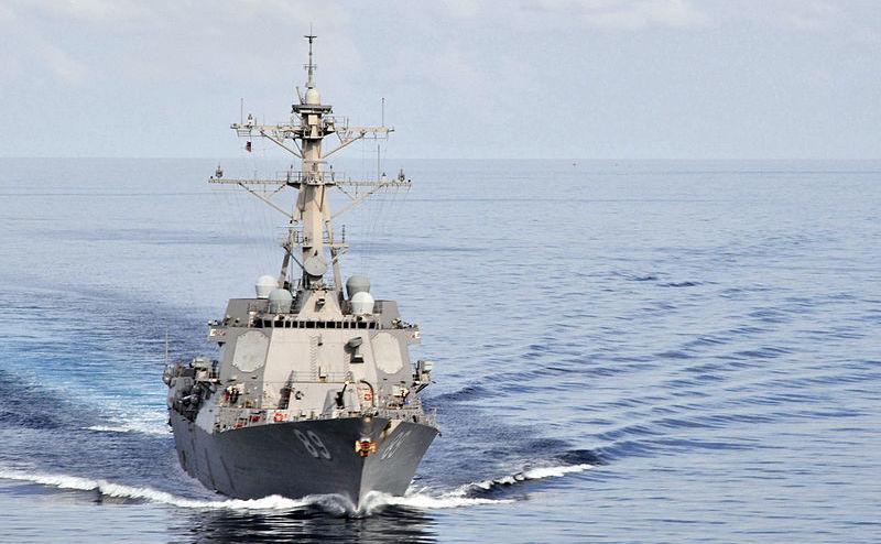 Distrugătoarul american cu rachete ghidate USS Mustin